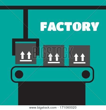 Vector conveyor. Industrial automation conveyor robotic vector