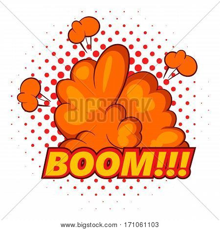Boom, comic book explosion icon. Pop art illustration of Boom, comic book explosion vector icon for web