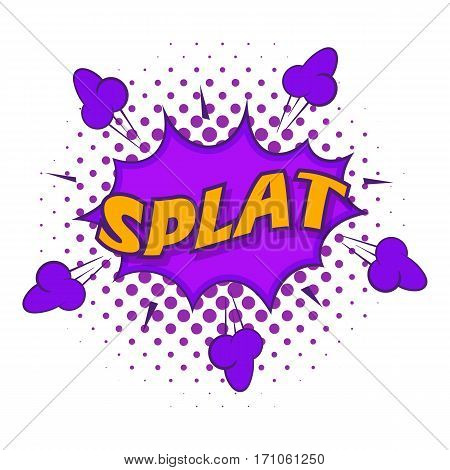 Splat, explosion bubble icon. Pop art illustration of Splat, explosion bubble vector icon for web