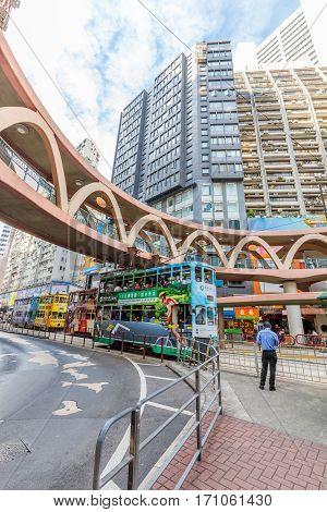 Double-decker Tram Hong Kong
