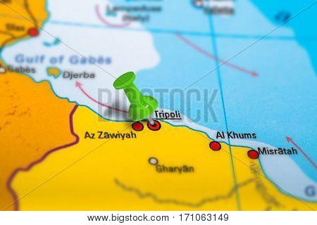 Tripoli Libya Map