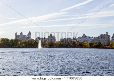 Iconic Views Of The Upper West Side By The Central Park Reservoir
