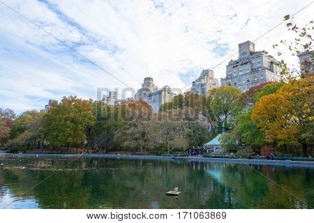 Conservatory Water In Central Park By Fifth Avenue And 74Th