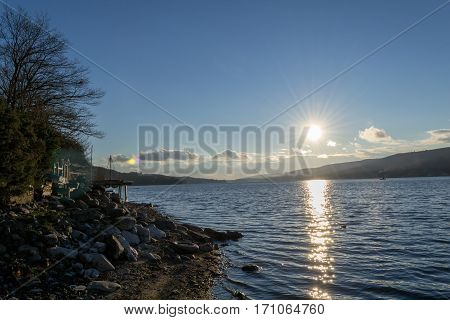 Sunset By Greenwood Lake (ny)