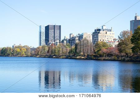 The Famous Upper East Side Photographied From The Jacqueline Kennedy Onassis In Central Park