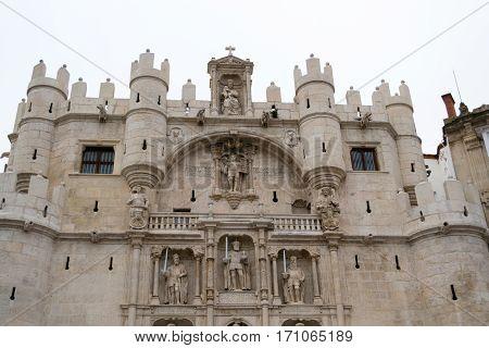 Arco De Santa Maria In Burgos (spain)