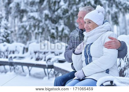 happy mature couple smiling and posing, have fun outdoors