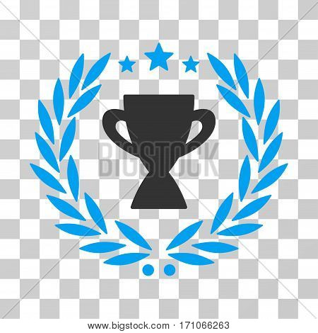 Glory Emblem icon. Vector illustration style is flat iconic bicolor symbol blue and gray colors transparent background. Designed for web and software interfaces.