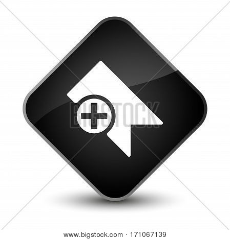 Bookmark Icon Special Black Diamond Button