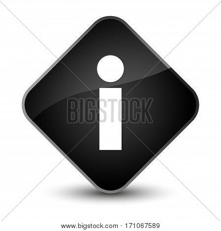 Info Icon Special Black Diamond Button