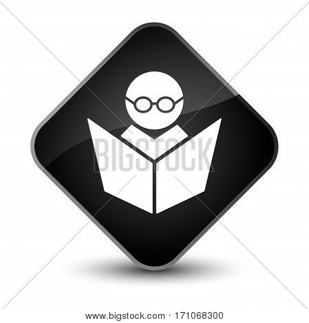 Elearning Icon Special Black Diamond Button