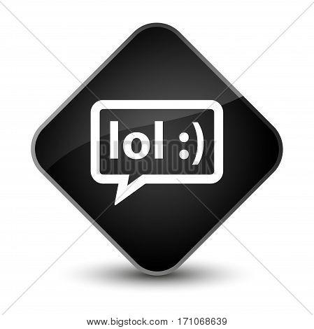 Lol Bubble Icon Special Black Diamond Button