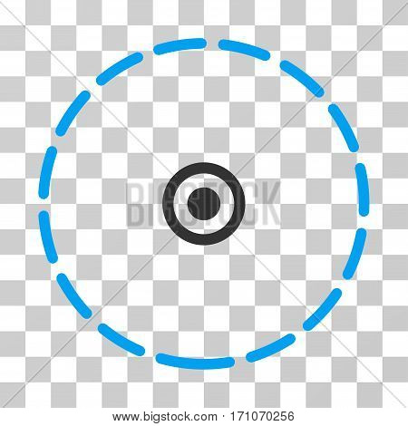 Round Area icon. Vector illustration style is flat iconic bicolor symbol blue and gray colors transparent background. Designed for web and software interfaces.