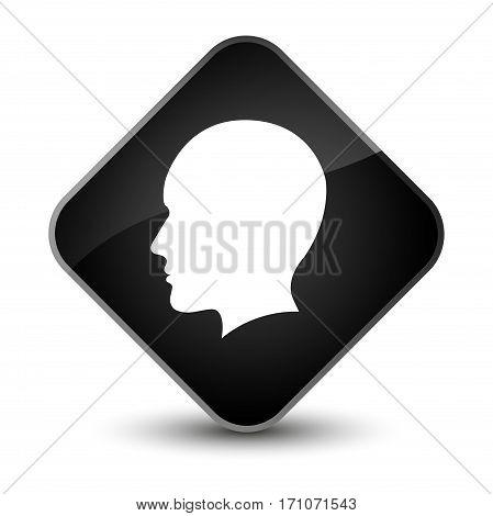 Head Men Face Icon Special Black Diamond Button