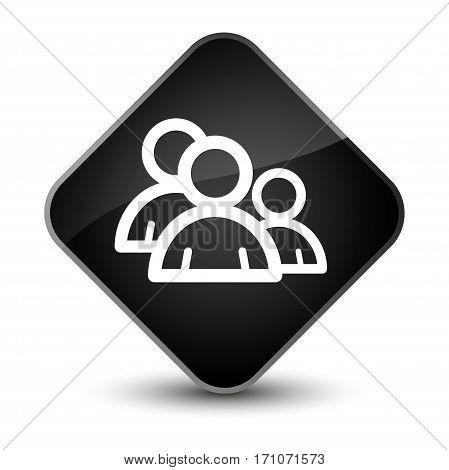 Group Icon Special Black Diamond Button
