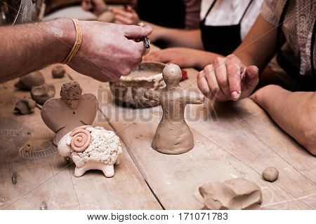 Arts lessons pottery workshop in a clay studio