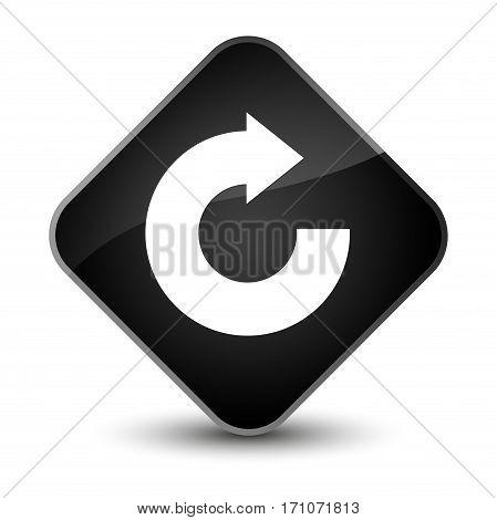 Reply Arrow Icon Special Black Diamond Button