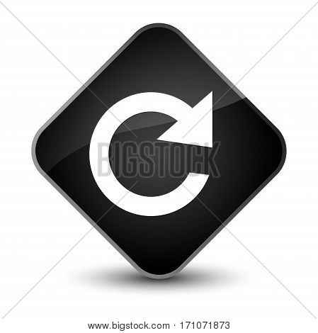 Reply Rotate Icon Special Black Diamond Button