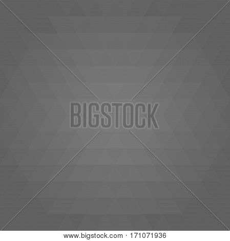 Geometric abstract background with dark gray triangles. Pattern with flow effect