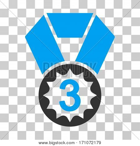 Third Place icon. Vector illustration style is flat iconic bicolor symbol blue and gray colors transparent background. Designed for web and software interfaces.