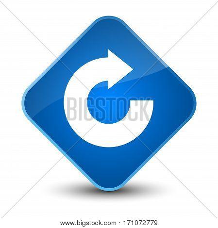Reply Arrow Icon Special Blue Diamond Button
