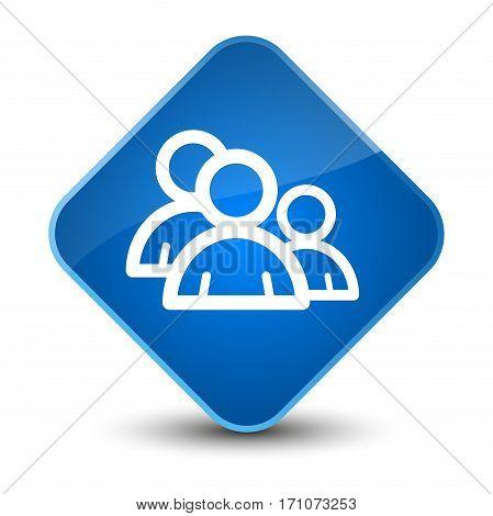 Group Icon Special Blue Diamond Button