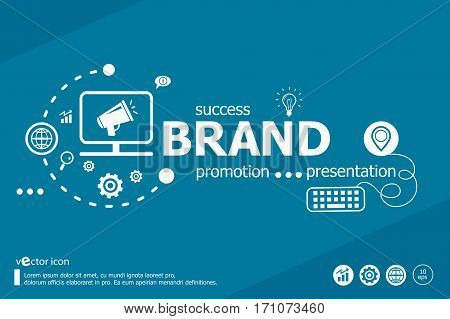 Branding Related Words And Marketing Concept.