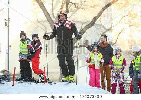 Ivica Kostelic Skiing With Kids