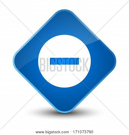 Cancel Icon Special Blue Diamond Button