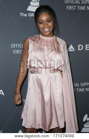 LOS ANGELES - FEB 9:  Gabby Douglas at the Delta Air Lines Celebrates 2017 GRAMMY Weekend at Beauty & Essex on February 9, 2017 in Los Angeles, CA