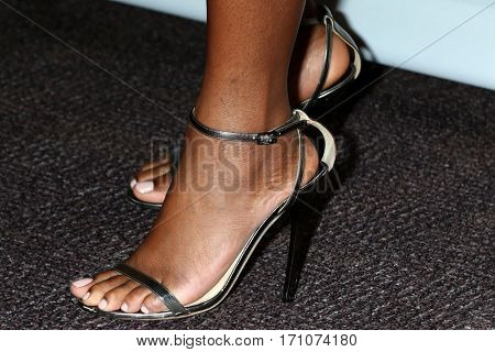 LOS ANGELES - FEB 10:  Tika Sumpter (shoe detail) at the Non-Televisied 48th NAACP Image Awards at Pasadena Conference Center on February 10, 2017 in Pasadena, CA