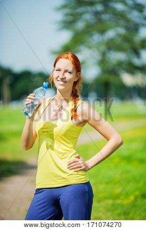 Athlete Woman Drinking