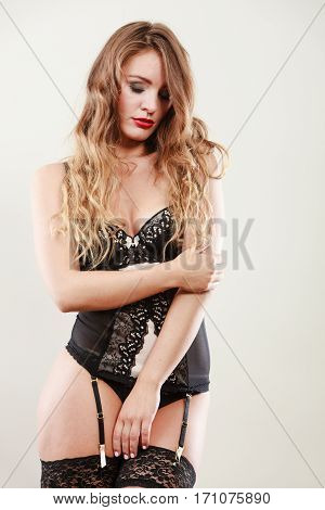 Sexy Girl Woman Wearing Lingerie