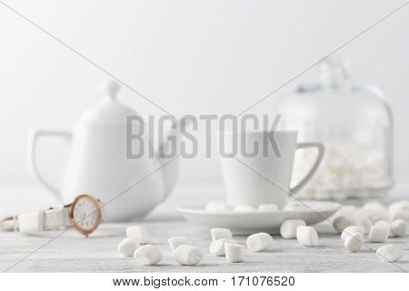 White Marshmallow On Table