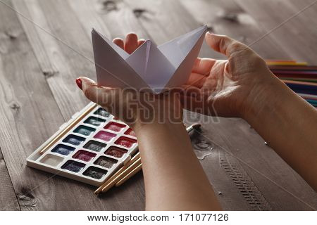 Female Ready Lesson To Educare Do Paper Craft Origami