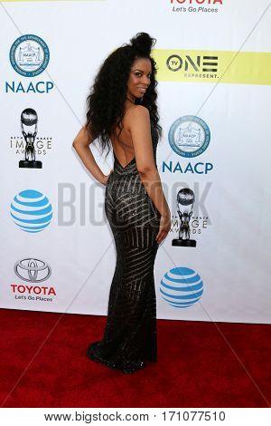 LOS ANGELES - FEB 11:  Susan Kelechi Watson at the 48th NAACP Image Awards Arrivals at Pasadena Conference Center on February 11, 2017 in Pasadena, CA