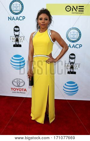LOS ANGELES - FEB 11:  Shalita Grant at the 48th NAACP Image Awards Arrivals at Pasadena Conference Center on February 11, 2017 in Pasadena, CA