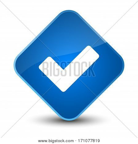 Validate Icon Special Blue Diamond Button