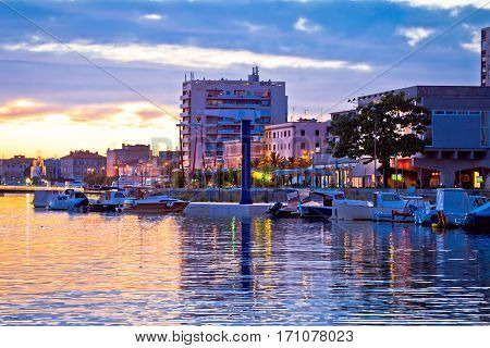 Zadar Waterfront At Golden Sunset View