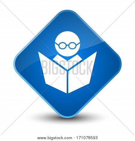 Elearning Icon Special Blue Diamond Button
