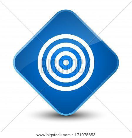 Target Icon Special Blue Diamond Button