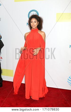 LOS ANGELES - FEB 11:  Lex Scott Davis at the 48th NAACP Image Awards Arrivals at Pasadena Conference Center on February 11, 2017 in Pasadena, CA