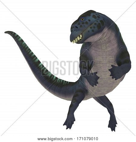 Placodus Dinosaur on White 3d illustration - Placodus was a marine reptile that swam in the shallow seas of the Triassic Period in Europe and China.