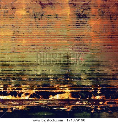 Vintage background, antique grunge backdrop or scratched texture with different color patterns: yellow (beige); brown; green; gray; blue; red (orange)