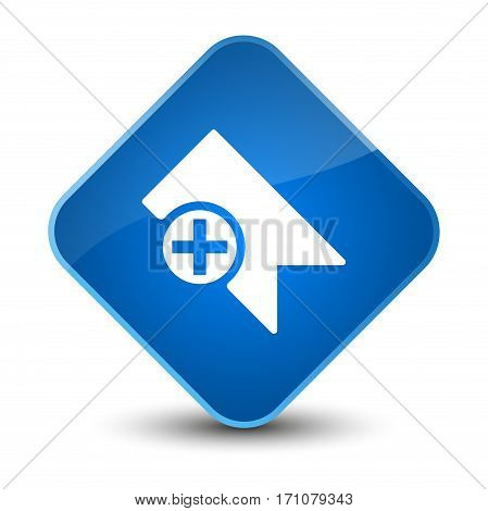 Bookmark Icon Special Blue Diamond Button