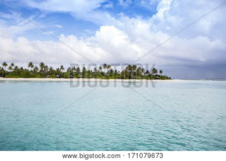 Beautiful landscape of tropical beach, Maldives island