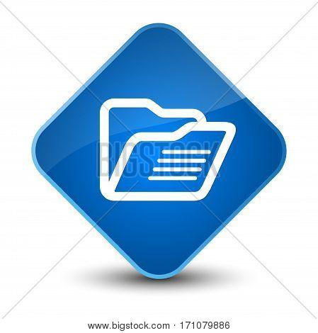 Folder Icon Special Blue Diamond Button