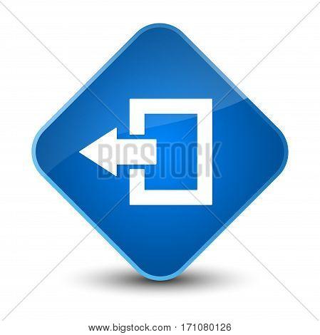 Logout Icon Special Blue Diamond Button