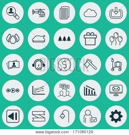 Set Of 25 Universal Editable Icons. Can Be Used For Web, Mobile And App Design. Includes Elements Such As Aqua, Settings, Air Ball And More.