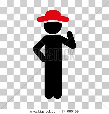 Gentleman Proposal icon. Vector illustration style is flat iconic bicolor symbol intensive red and black colors transparent background. Designed for web and software interfaces.
